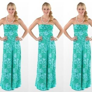 Lilly Pulitzer Toucan Tango Jules Strapless Maxi S